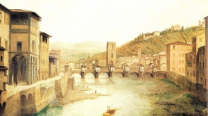 View of Ancient Florence by Fabio Borbottoni